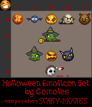 Halloween Emoticon Set by Gomotes in cooperation with Scary-Movies