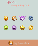 Happy emoticons from Gomotes